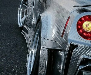 3d, nissan, and chrome image