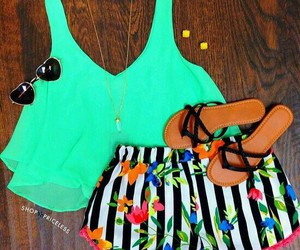 outfit, summer, and sandals image