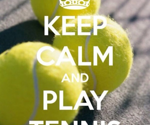 sport, tennis, and tennis ball image