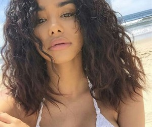 beach, summer, and curls image