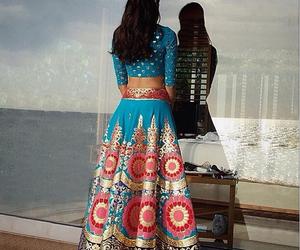 blue, fashion, and india image