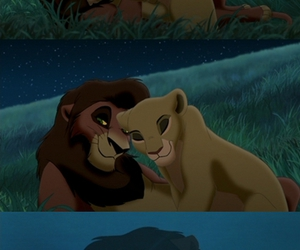 disney, kiara, and kovu image