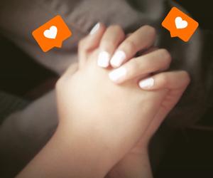 boyfriend, girlfriend, and hands image