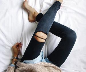 beige, elegant, and jeans image
