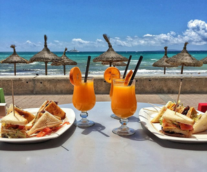 beach, Cocktails, and delicious image