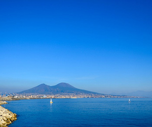blue, sea, and Naples image