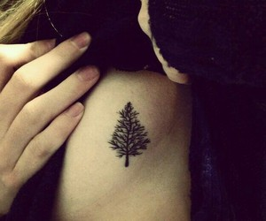 tattoo, tree, and cute image
