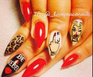 nails, red, and tiger image