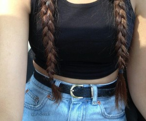 fashion, hair, and grunge image