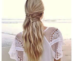 beautiful, ocean, and girl image