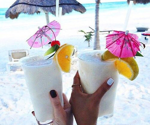 beach, delicious, and summer image