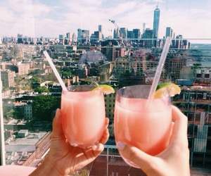 drink, summer, and city image