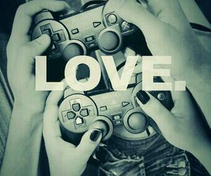 love, game, and couple image