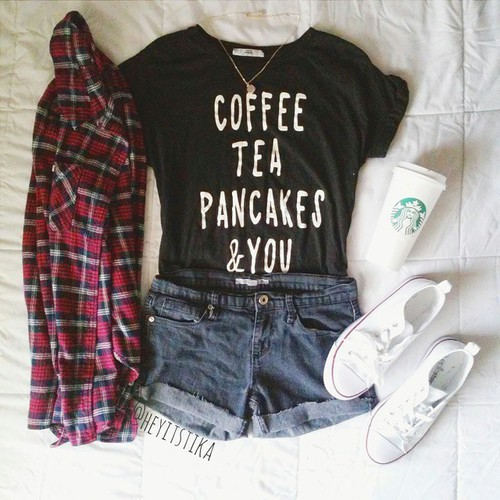 coffee, clothes, and fashion image