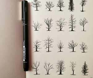 tree, art, and drawing image