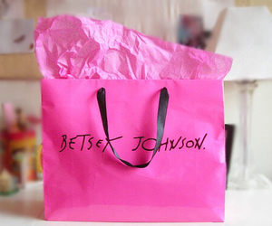 betsey johnson, pink, and shopping image