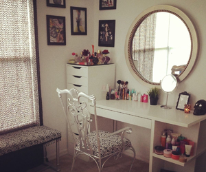 decor, room, and dressing table image