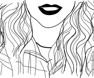 outline, black, and drawing image