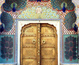 door, art, and india image
