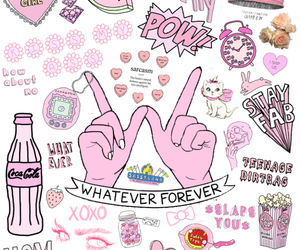 pink, wallpaper, and Collage image