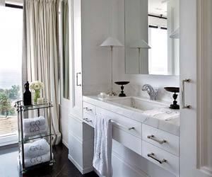 bathroom, beauty, and decor image