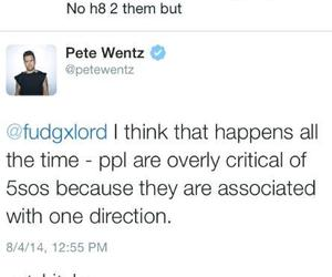 fall out boy, pete wentz, and criticism image