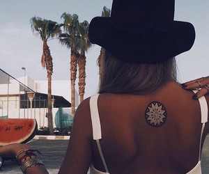 summer, girl, and tattoo image