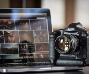camera, laptop, and canon image