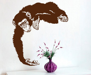 home decor, monkey, and sticker image