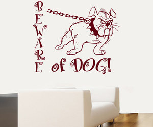 murals, decals wall decor, and dog image