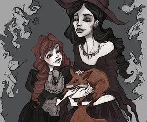 art, dark, and illustration image