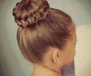 balerina, braid, and hair image