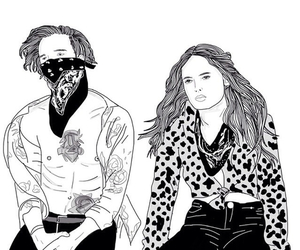 the 1975, outline, and robbers image