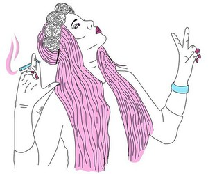 outline, drawing, and hair image