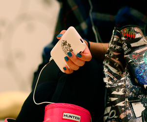 juicy couture, hunter, and iphone image