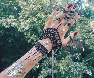 henna, tattoo, and black image