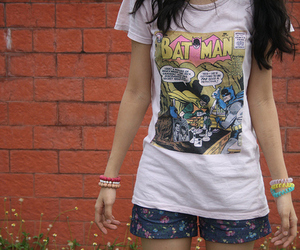 girl, batman, and t-shirt image