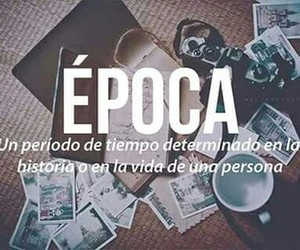 época, words, and vida image
