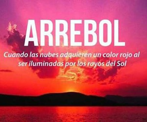 arrebol, words, and clouds image