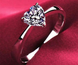 diamond, ring, and love image