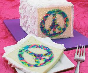 cake, peace, and food image