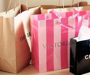 chanel, Victoria's Secret, and shopping image