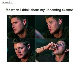dean winchester, supernatural, and funny image