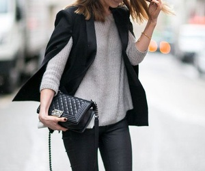 black, outfit, and chanel image