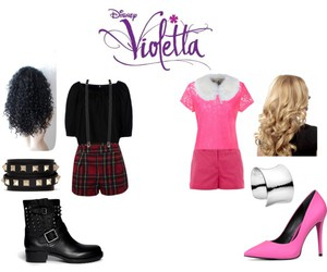 outfits, pink, and violetta image