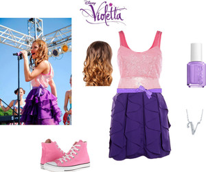 outfits, pink, and martina stoessel image