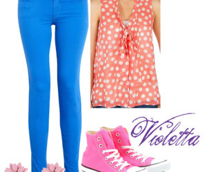 blue, violetta, and outfits image