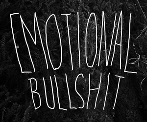 bullshit, emotional, and quote image