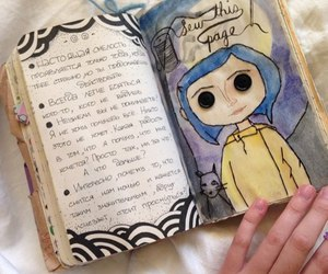 art, book, and coraline image