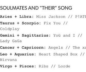 music, songs, and zodiac image